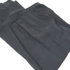 Vintage Navy Hi Waist Loose Tapered Leg Silk Pants